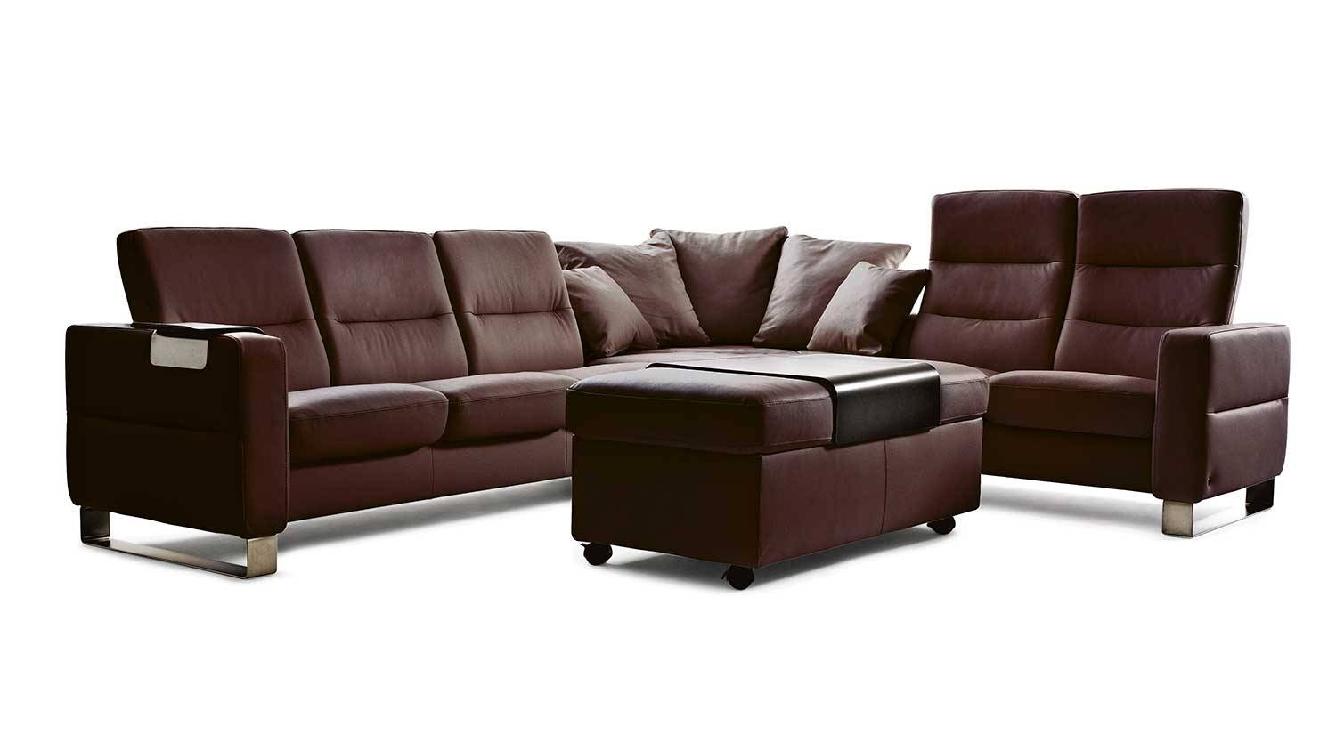 Circle Furniture - Wave Stressless Sectional | Ekornes Sofas regarding Ekornes Sectional Sofa (Image 9 of 30)