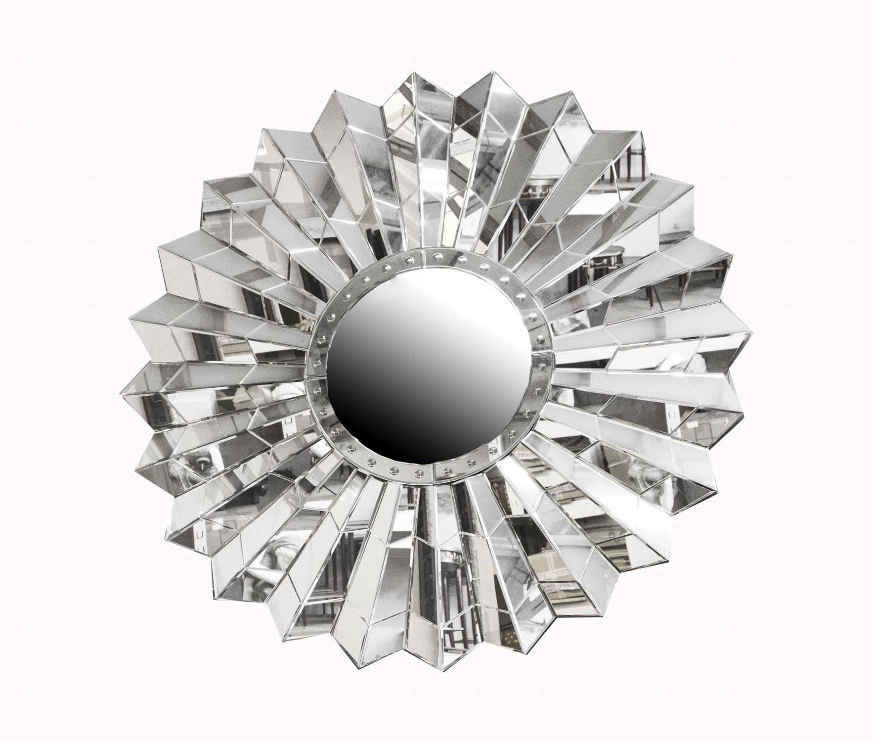 Circular Art Deco Style Sunburst Mirror | Vinterior with regard to Art Deco Style Mirrors (Image 14 of 25)