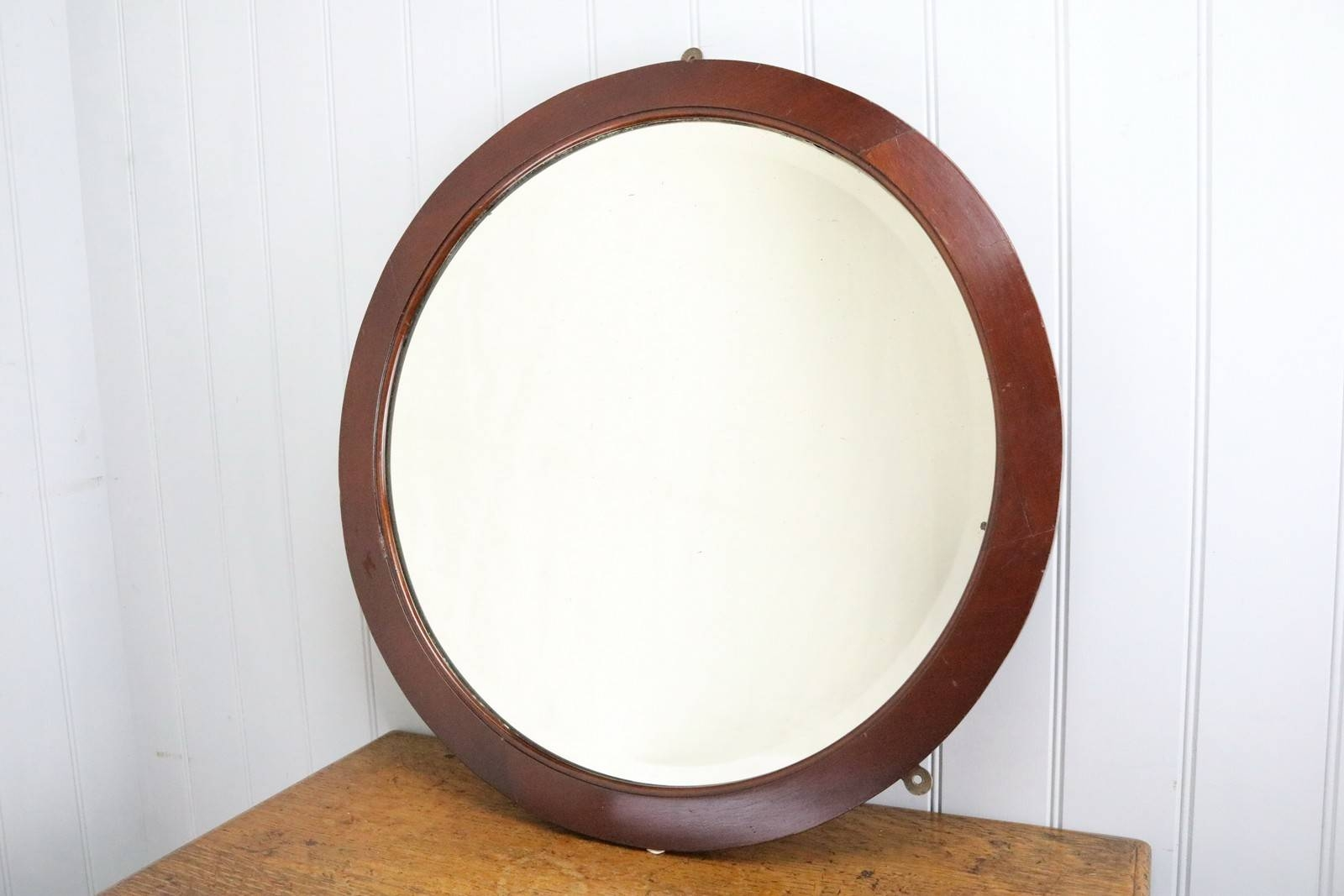 Circular Oak Framed Wall Mirror Circa 1930 - The Hoarde with regard to Oak Framed Wall Mirrors (Image 2 of 25)