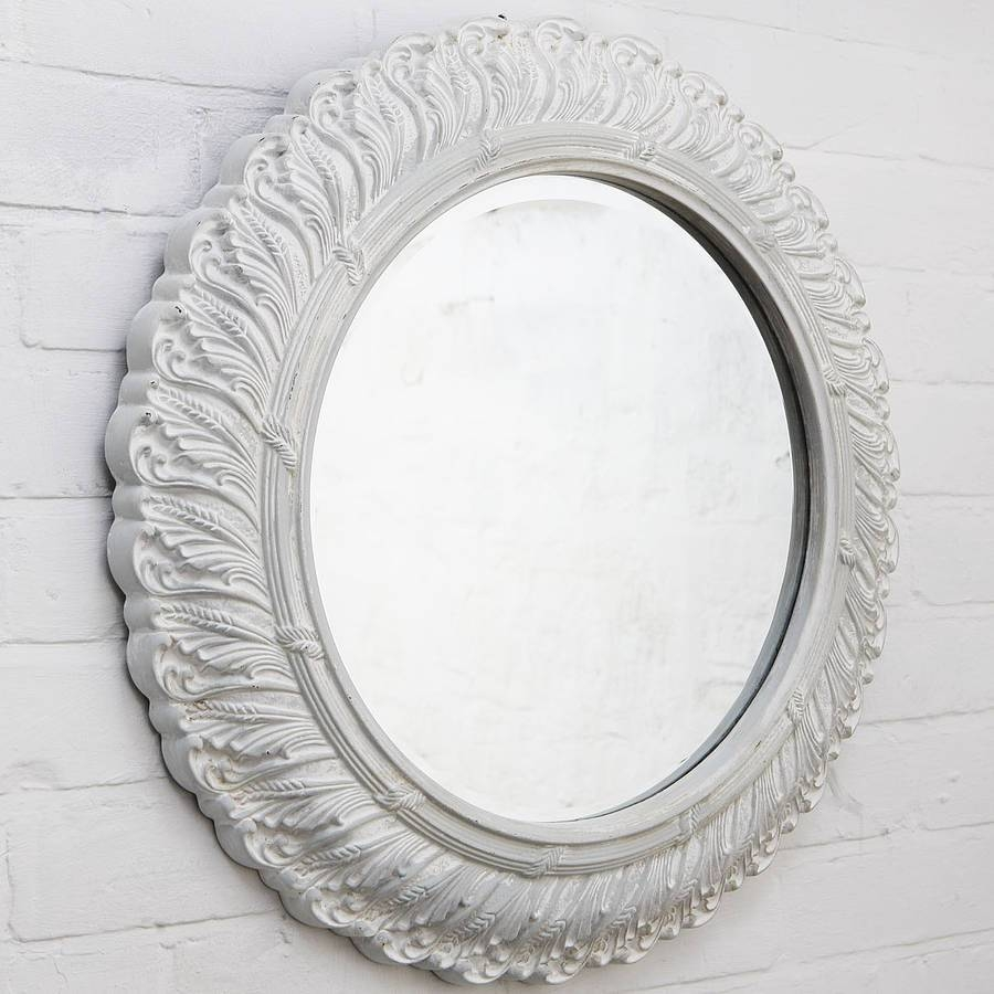 Circular Ornate French Mirrorhand Crafted Mirrors with regard to Ornate French Mirrors (Image 11 of 25)