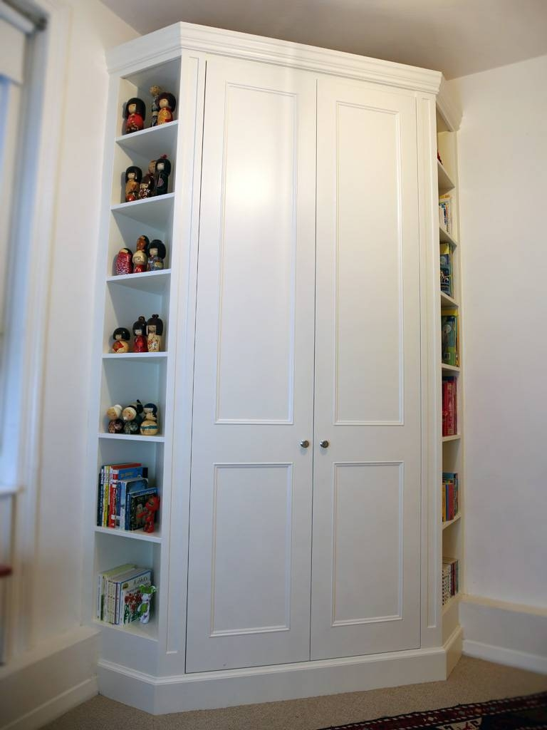 Classic Built In Corner Wardrobe | Bespoke Furniture | Fitted in White Corner Wardrobes Units (Image 2 of 15)