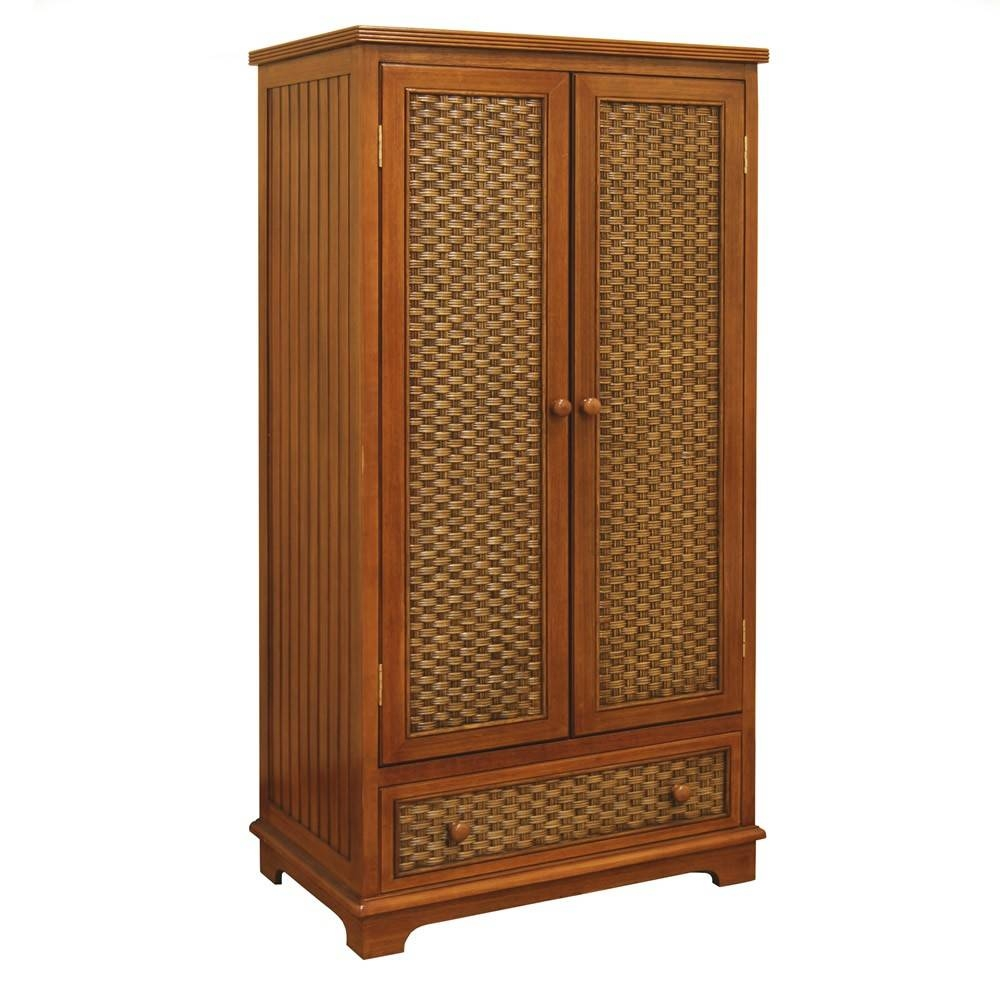 Classic Coastal Indoor Cottage Wicker Wardrobe - Classic Coastal intended for White Wicker Wardrobes (Image 5 of 15)