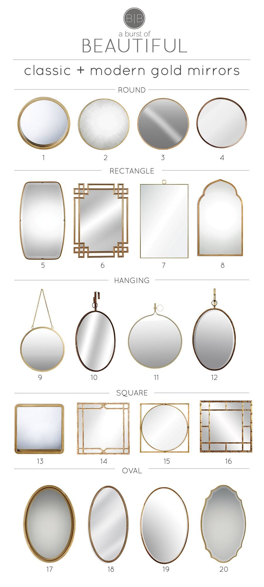 Classic & Modern Gold Mirrors - A Burst Of Beautiful pertaining to Square Gold Mirrors (Image 6 of 25)