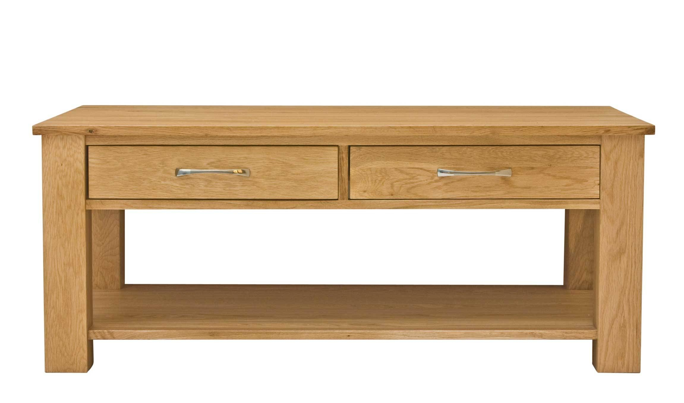 Classic Oak Coffee Table With Drawers | Hampshire Furniture intended for Oak Coffee Table With Drawers (Image 2 of 15)