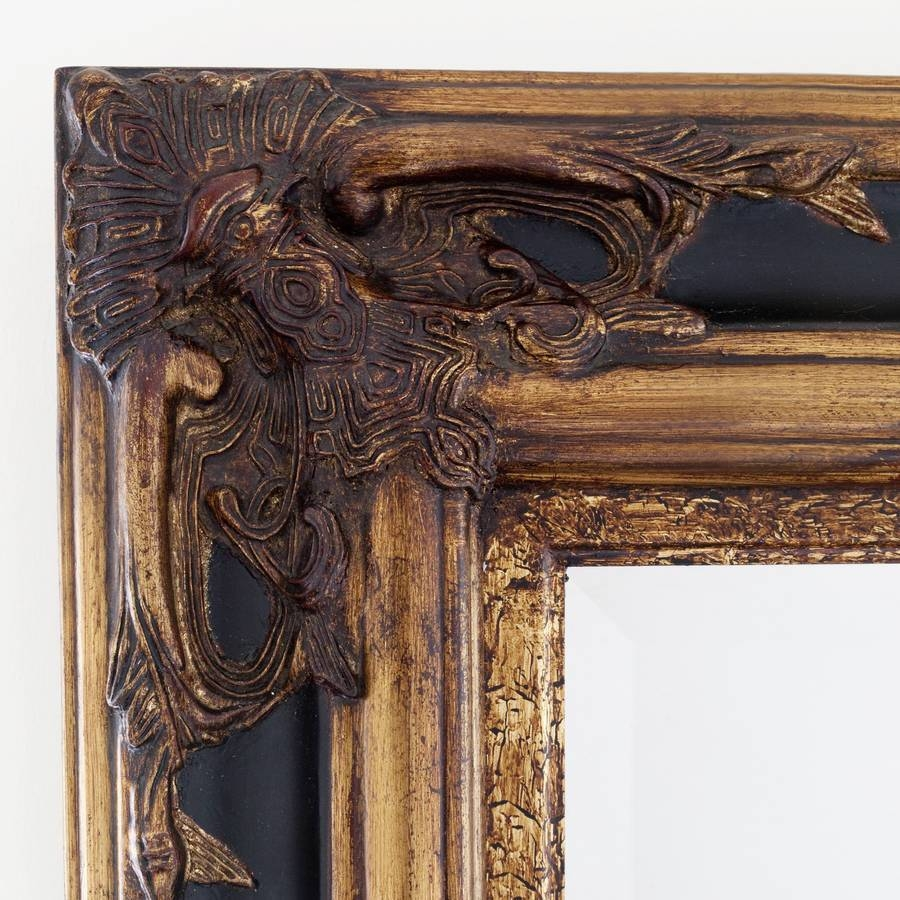 Classic Ornate Black And Gold Mirrordecorative Mirrors Online regarding Gold Ornate Mirrors (Image 4 of 25)