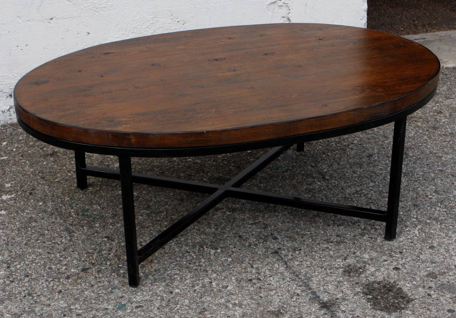 Classic Oval Coffee Table Furniture Hardwood Small Glass Pottery Regarding Coffee Tables With Oval Shape (View 6 of 30)