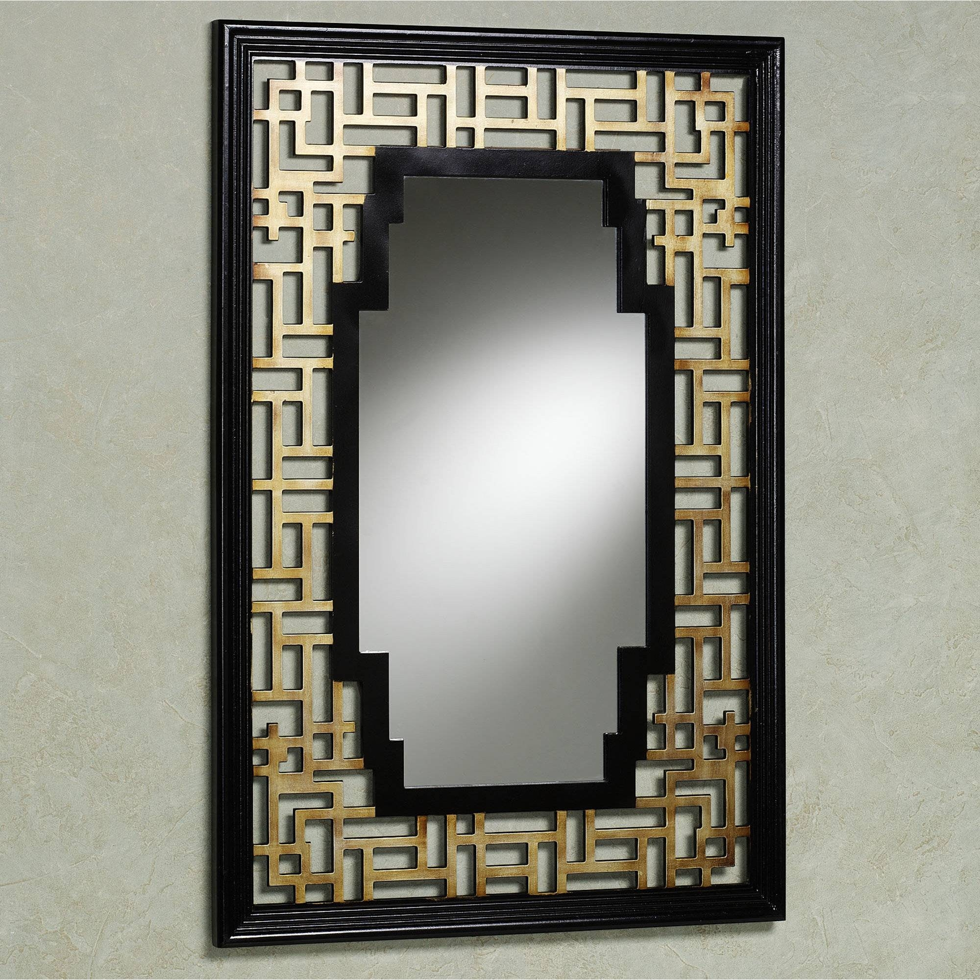 Classic Oval Wall Mirrors With Twig Pattern Frames As Traditional for Black Oval Wall Mirrors (Image 5 of 25)