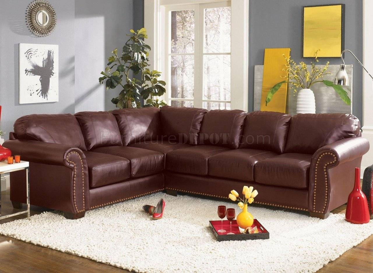 Classic Sectional Sofa Cassidy L190 Burgundy with Classic Sectional Sofas (Image 8 of 30)