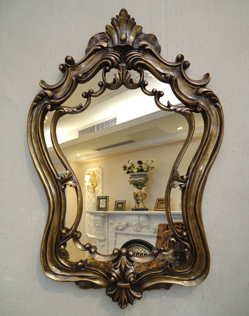 Classical Gothic Wall Mirror Decorative Ornate Mirrors Home Decor throughout Gothic Wall Mirrors (Image 13 of 25)