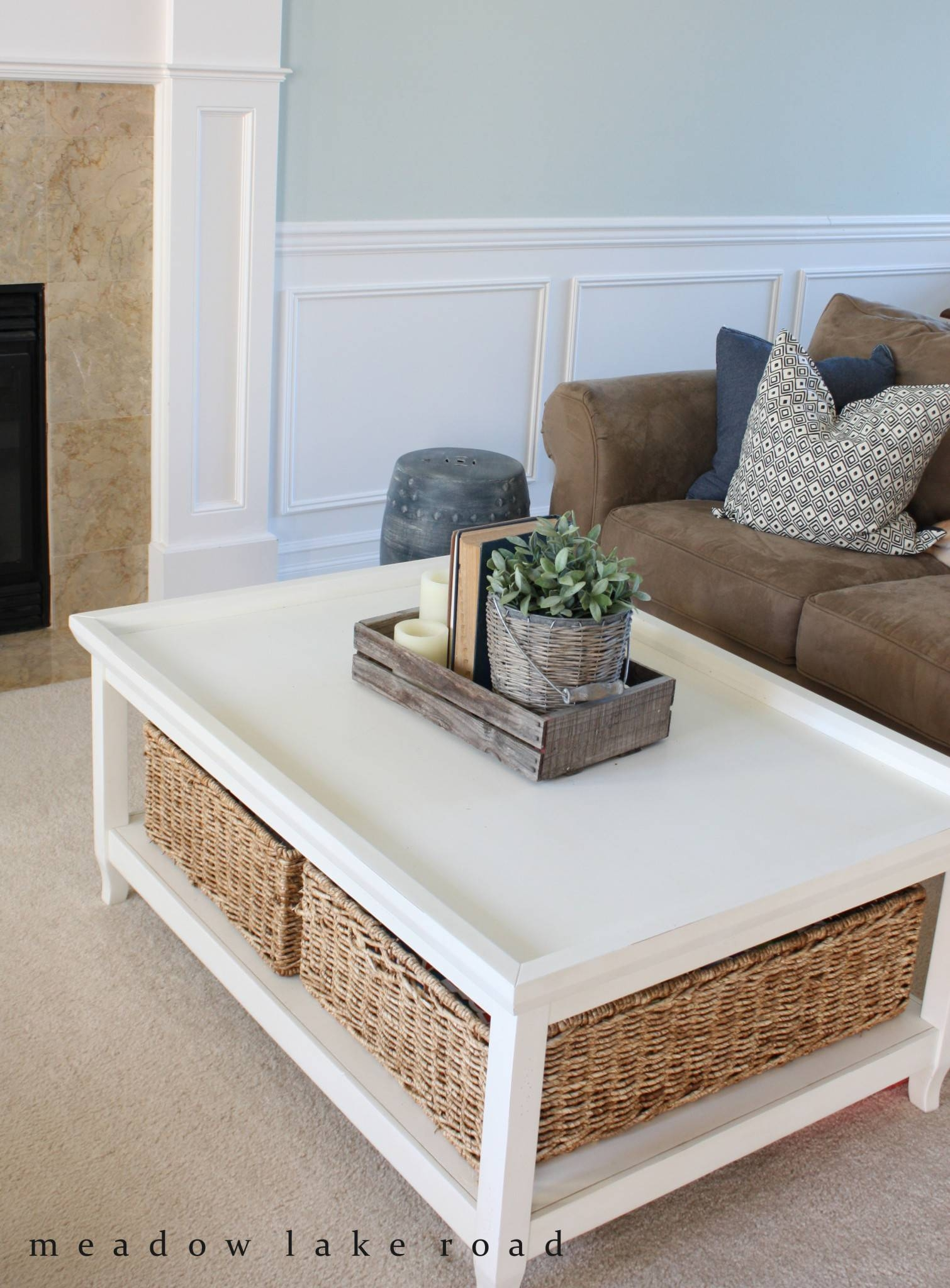 Best 30 of White Coffee Tables With Baskets