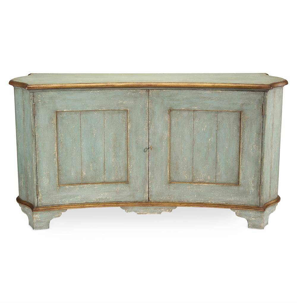 Claude French Country Light Blue Gold Gilded Buffet Sideboard for French Country Sideboards (Image 6 of 30)