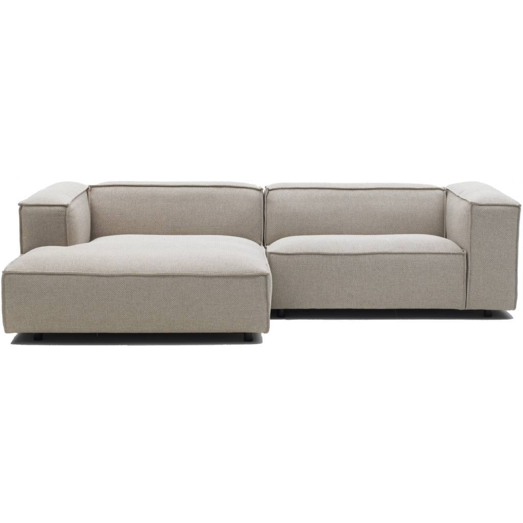 Clay Modulaire Bank Sofa Sydney 94 Donkergrijs - Living And Co. regarding Leather Bench Sofas (Image 6 of 30)