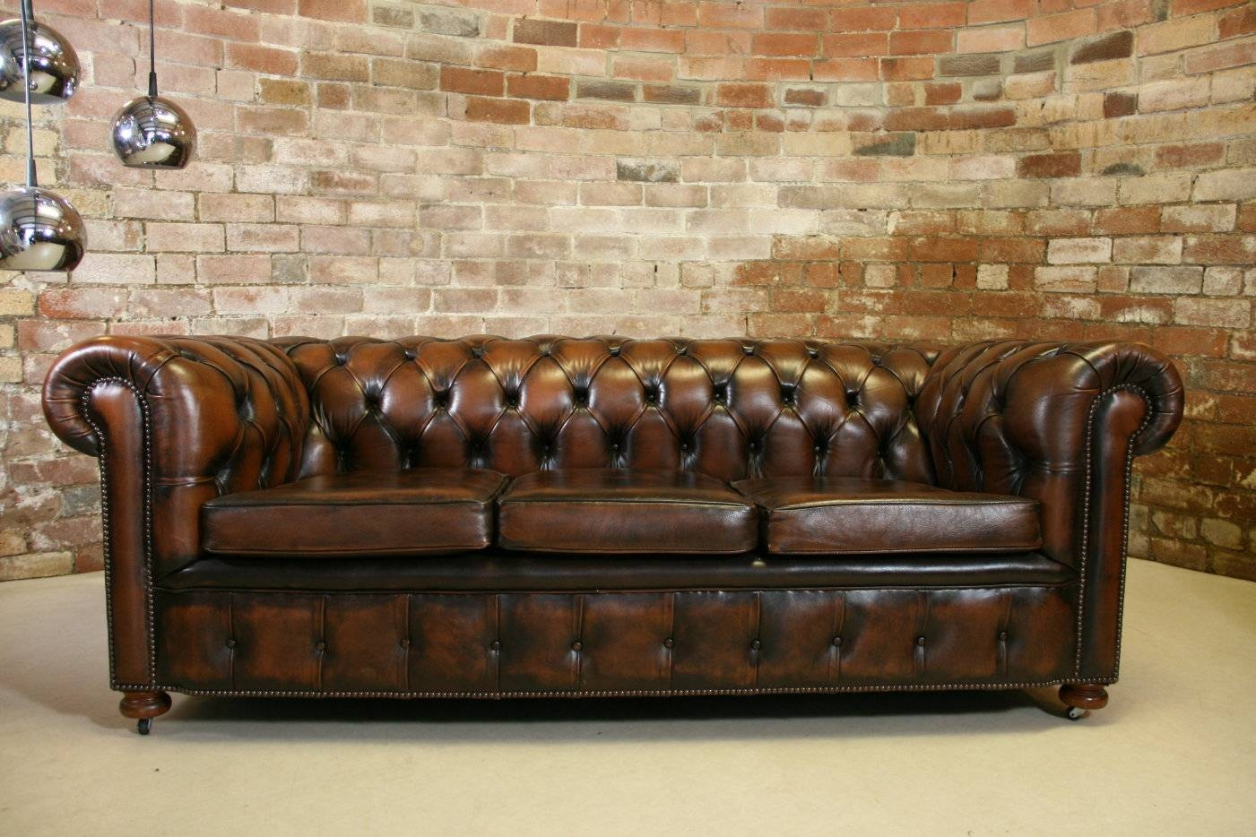 Clean And Bright Chesterfield Sofa — New Lighting New Lighting within Leather Chesterfield Sofas (Image 12 of 30)