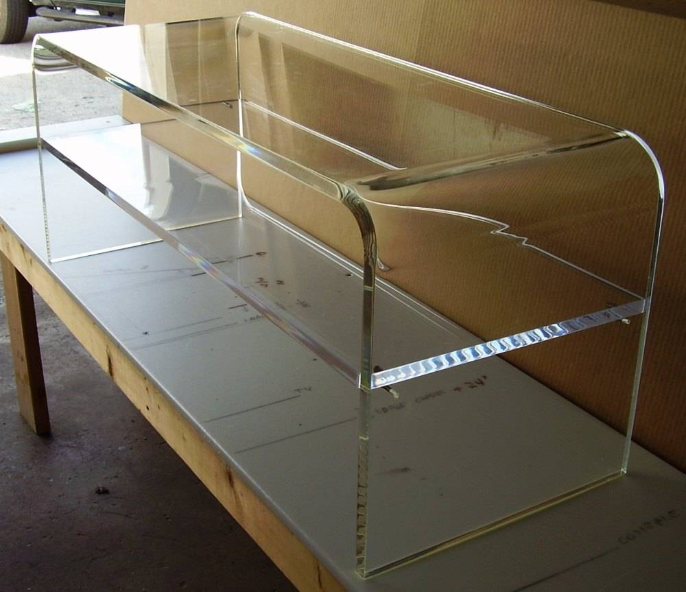 Clear Acrylic Coffee Table With Shelf Underneath Decofurnish Dimen regarding Coffee Tables With Shelf Underneath (Image 3 of 30)