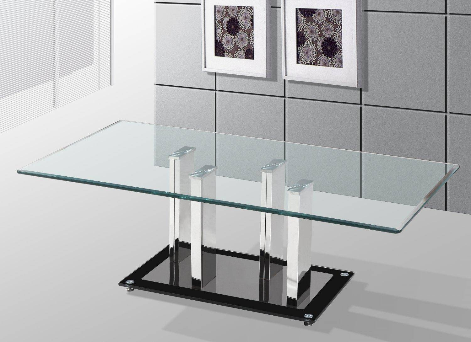 Clear Tempered Glass Coffee Table - See Here — Coffee Tables Ideas inside Revolving Glass Coffee Tables (Image 9 of 30)