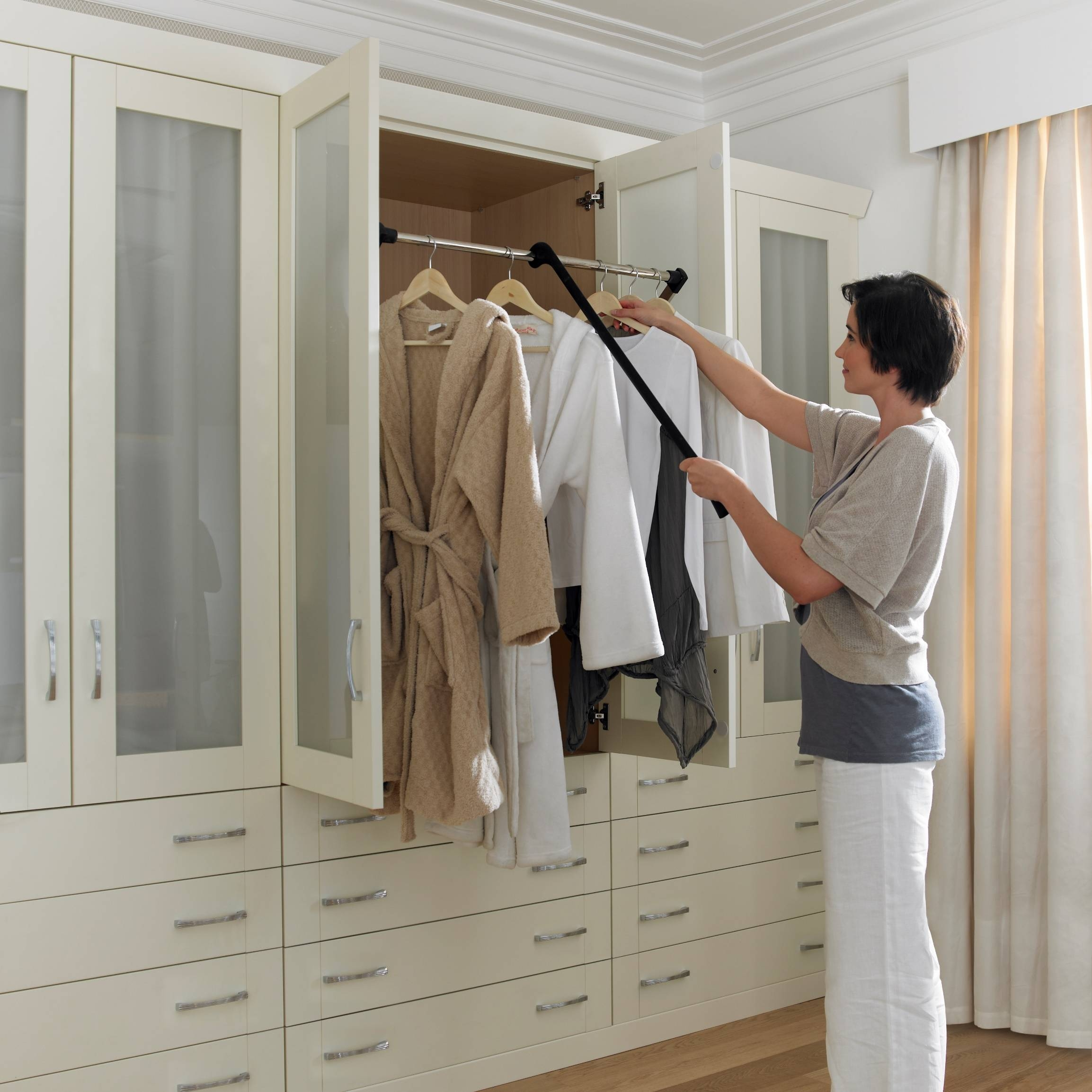 Closet Wardrobe Personalised Home Design for Double Hanging Rail Wardrobes (Image 6 of 30)