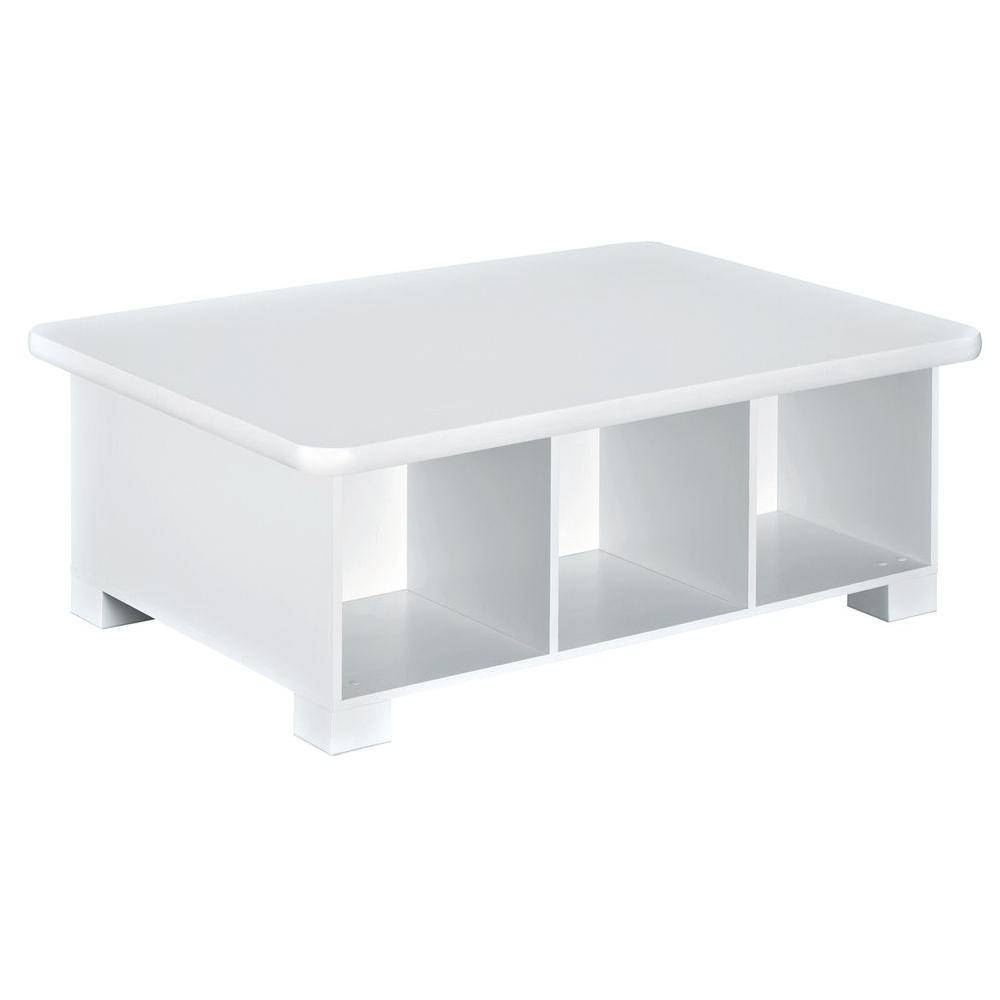 Closetmaid 40 In. W X 15 In. H White 6-Cube Activity Table-1599 intended for White Cube Coffee Tables (Image 1 of 30)