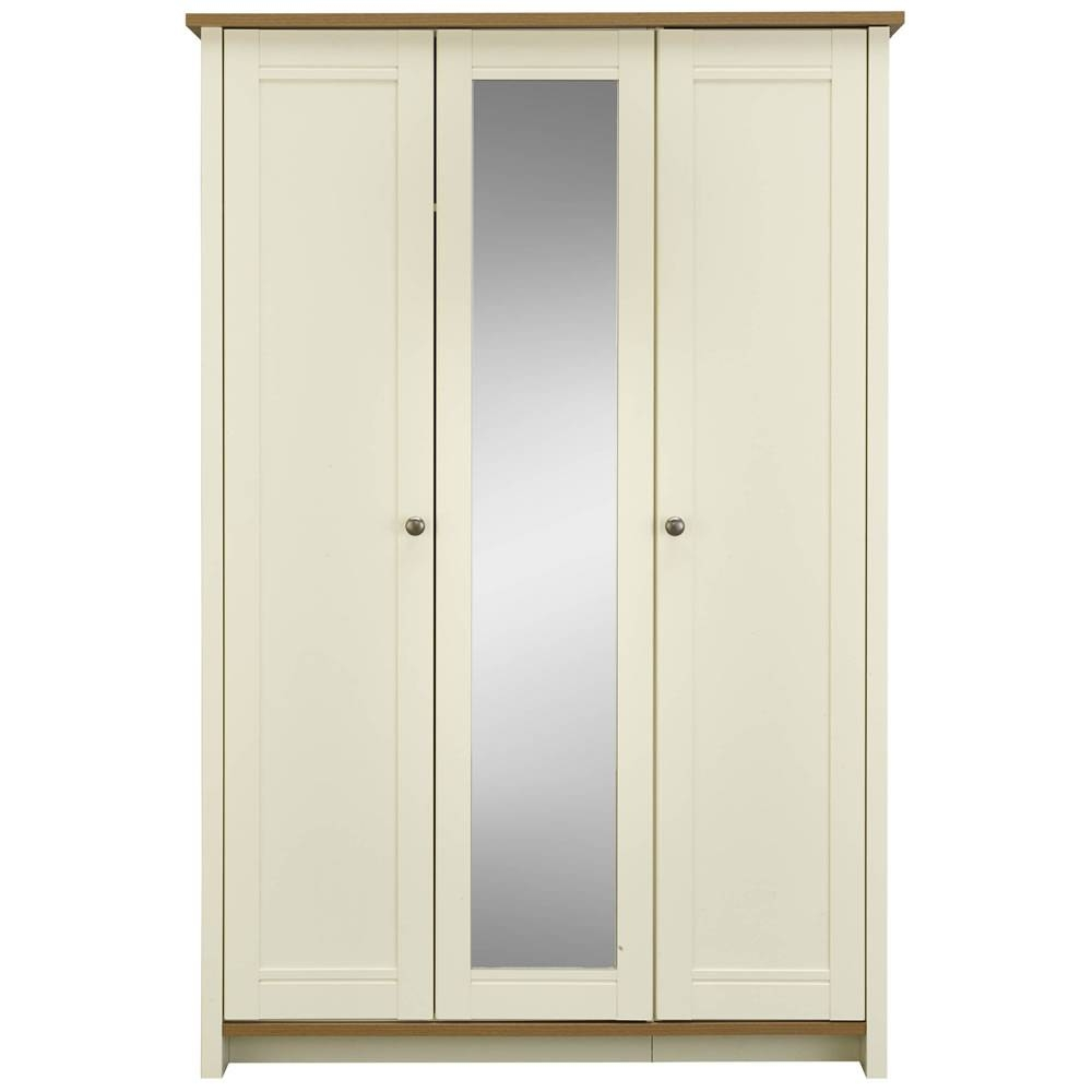 Clovelly 3 Door Centre Mirror Wardrobe At Wilko pertaining to 3 Door Mirrored Wardrobes (Image 7 of 15)
