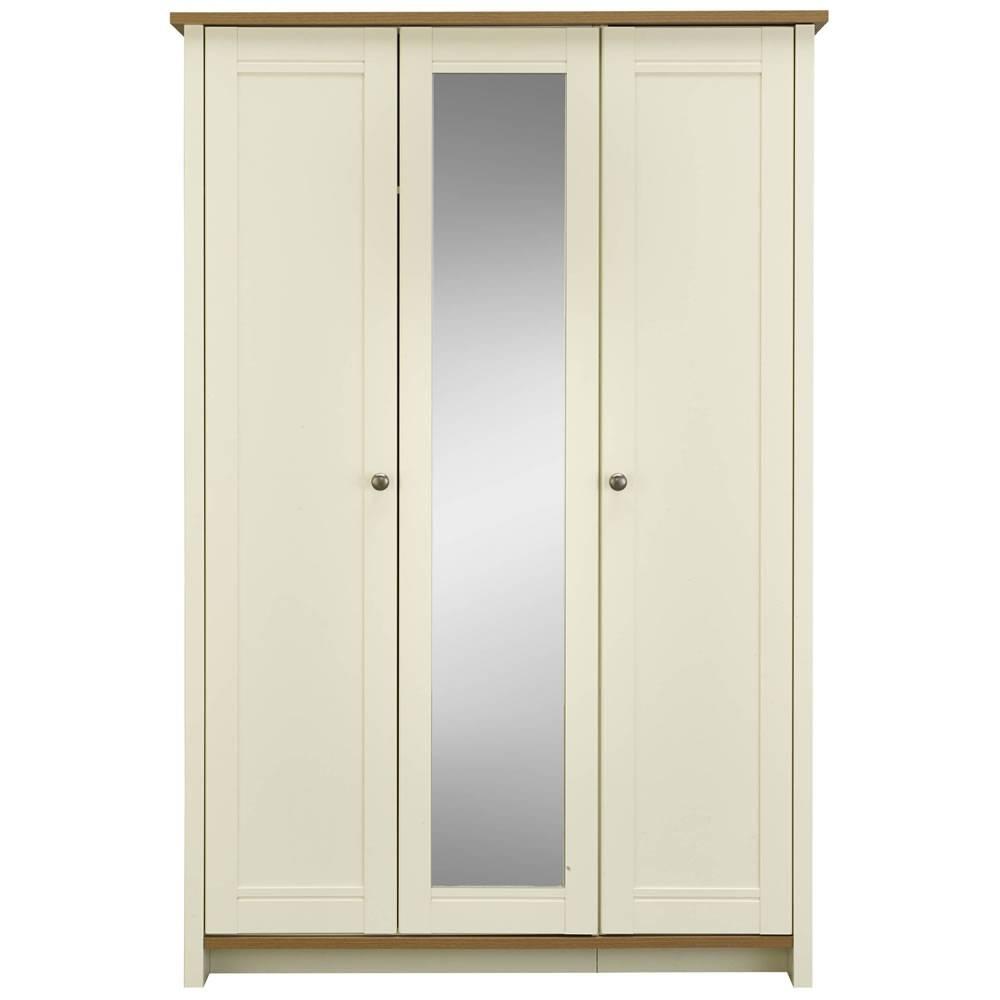 Clovelly 3 Door Centre Mirror Wardrobe At Wilko Pertaining To 3 Door Mirrored Wardrobes (View 7 of 15)