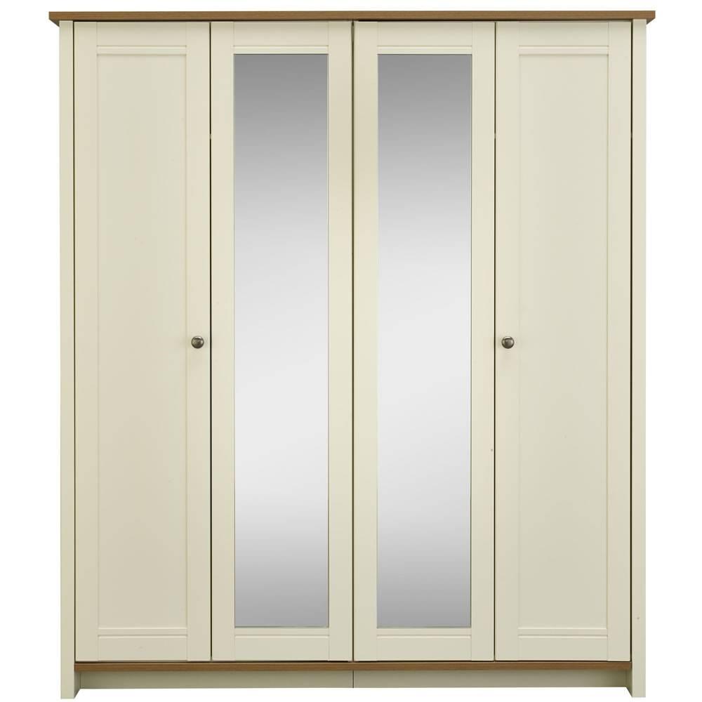 Clovelly 4 Door Centre Mirror Wardrobe At Wilko in 4 Door Mirrored Wardrobes (Image 4 of 15)