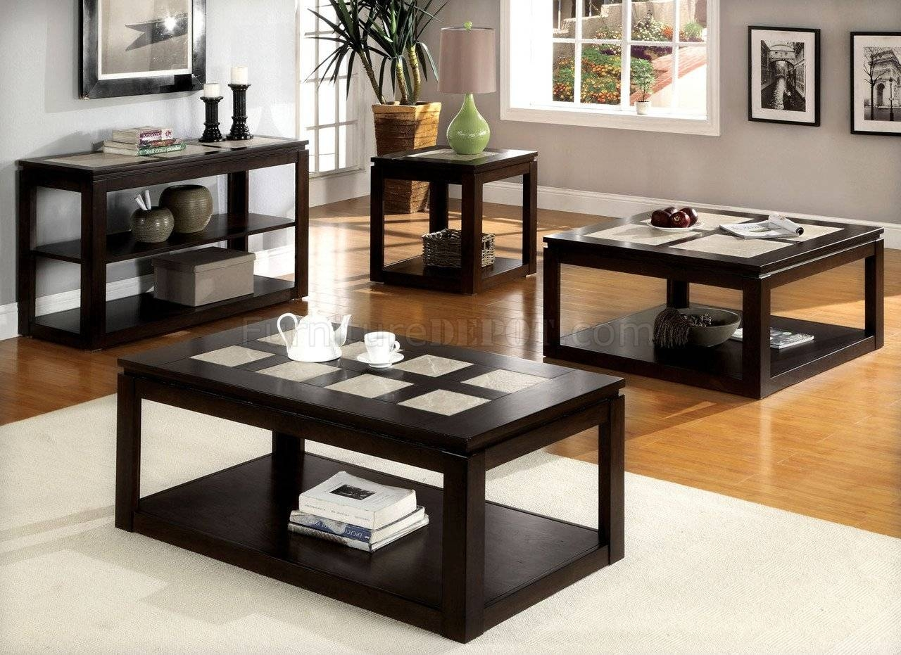 Cm4484 Verona Coffee Table In Espresso W/options intended for Espresso Coffee Tables (Image 6 of 30)