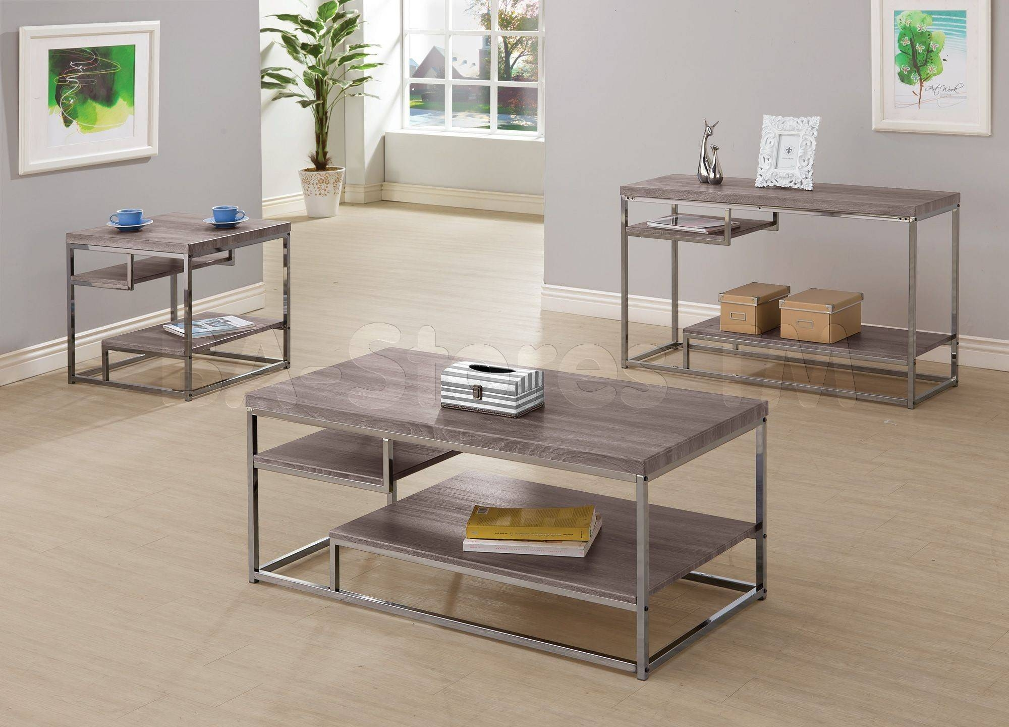 Coaster Co. - Coffee, Side & End Tables | Coaster Furniture inside Metal Glass Sofa Tables (Image 8 of 30)