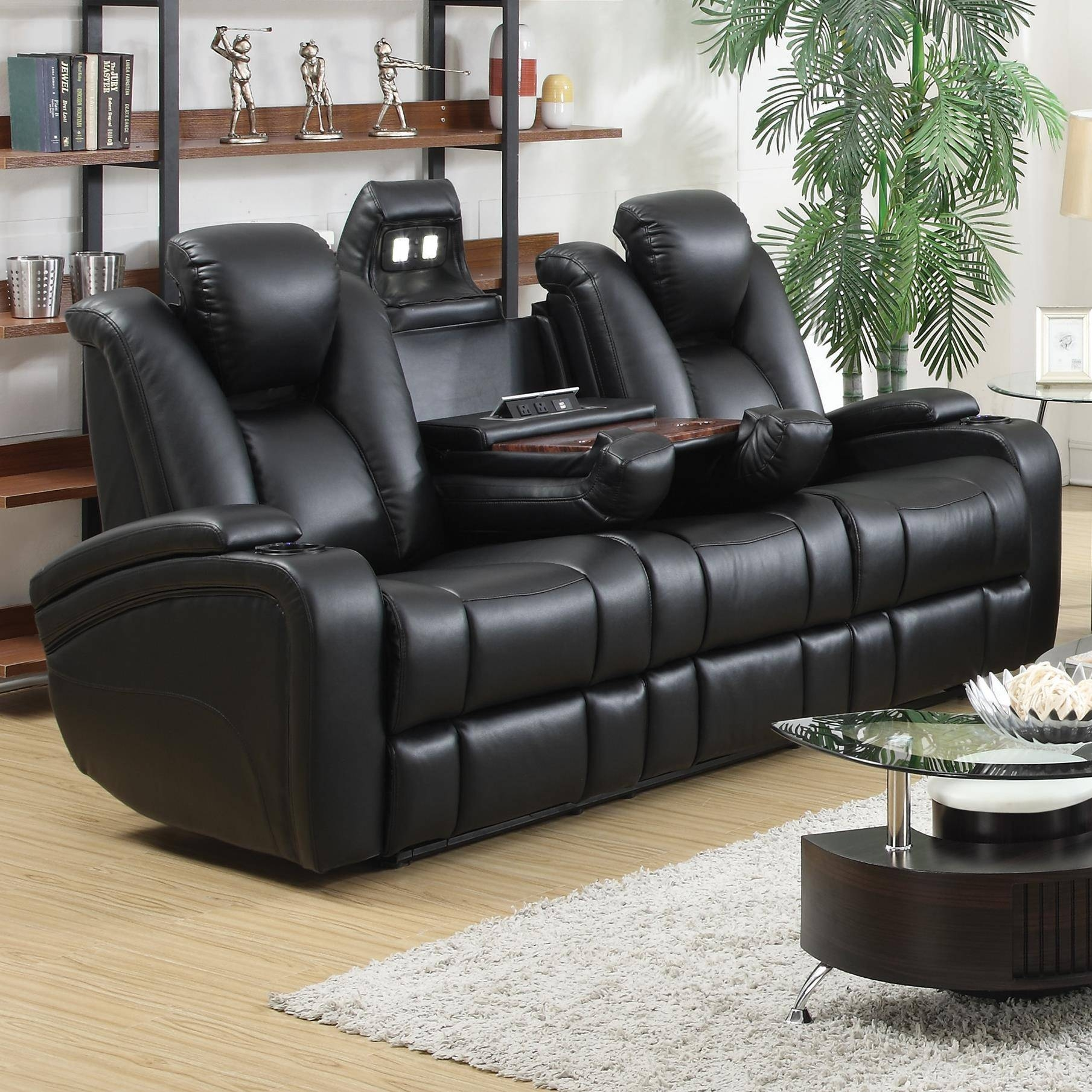 Coaster Delange Reclining Power Sofa With Adjustable Headrests for Sofa Chair Recliner (Image 7 of 30)