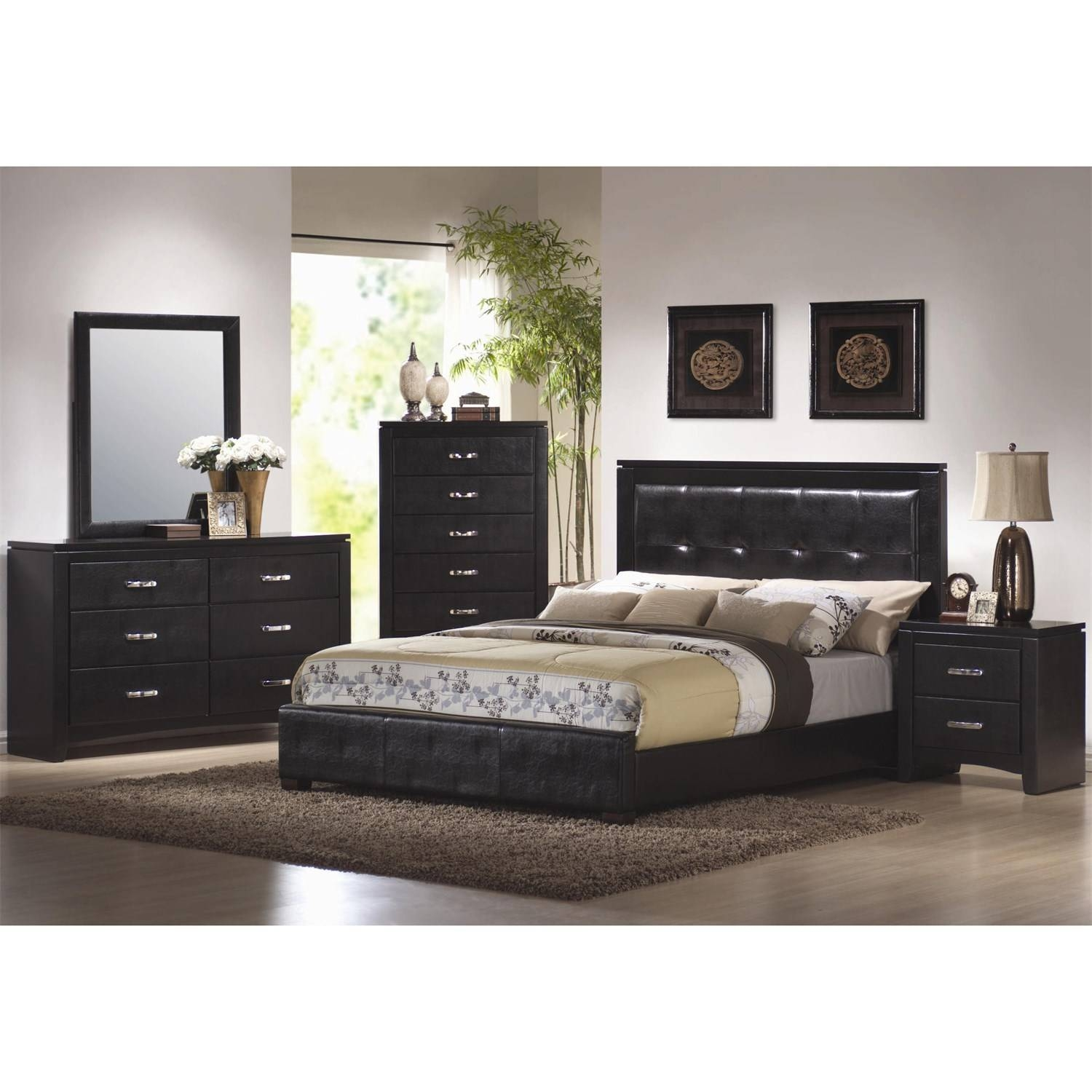 Coaster Furniture 201404 Dylan Vertical Faux Leather Dresser For Black Faux Leather Mirrors (View 11 of 25)