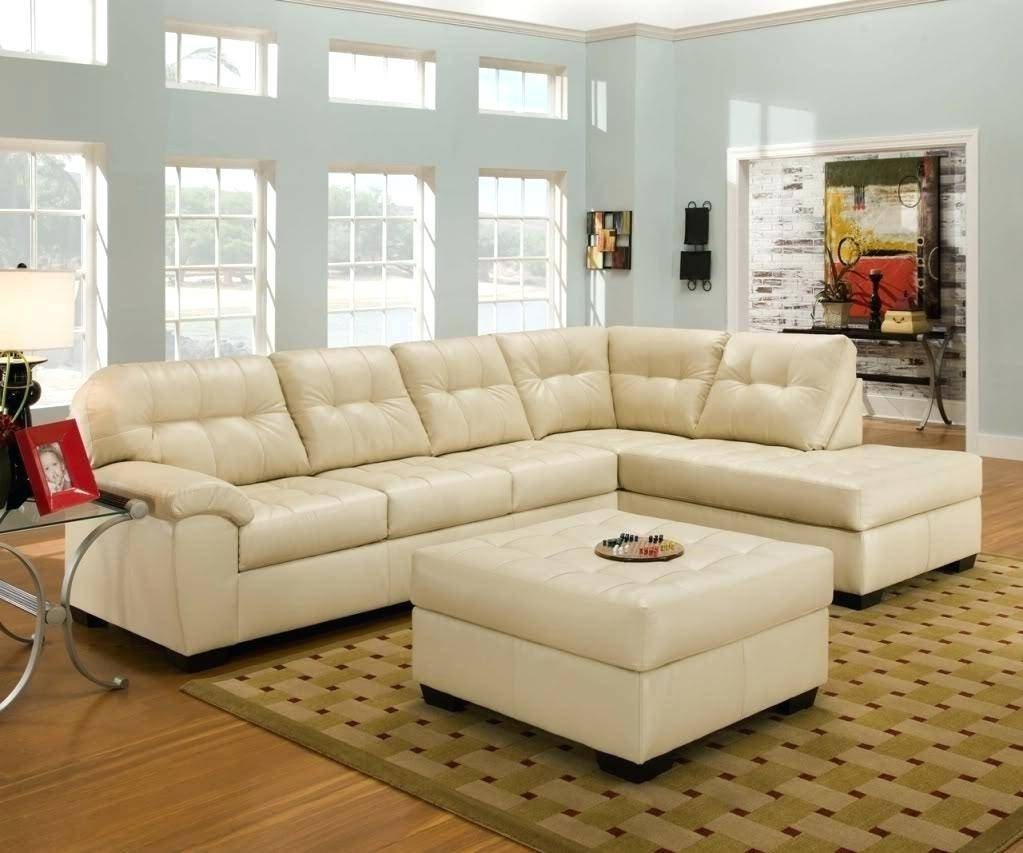 Cobalt Blue Leather Sofa Furniture Fascinating Modern Best Design pertaining to Cream Colored Sofa (Image 4 of 25)