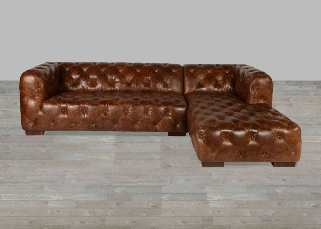 Coco Brompton Leather Vintage Sectional regarding Vintage Leather Sectional Sofas (Image 7 of 30)