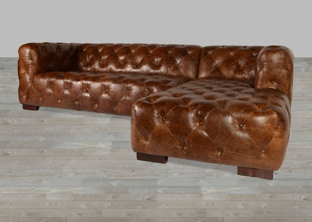Coco Brompton Leather Vintage Sectional within Vintage Leather Sectional Sofas (Image 8 of 30)