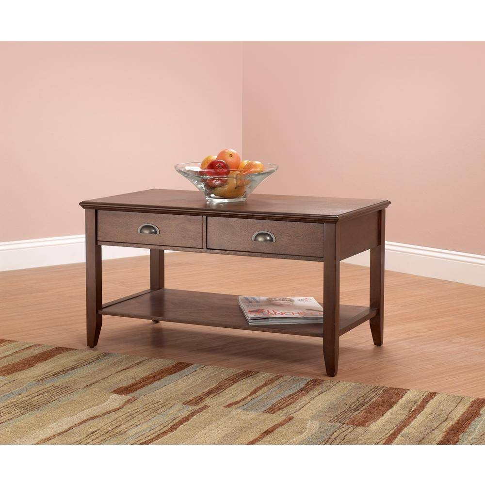 Coffee Table - Accent Tables - Living Room Furniture - The Home Depot in Red Gloss Coffee Tables (Image 4 of 30)