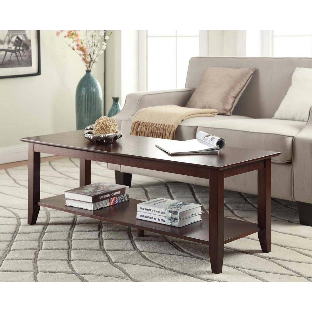 Coffee Table – Accent Tables – Living Room Furniture – The Home Depot With Regard To Old Pine Coffee Tables (View 7 of 30)
