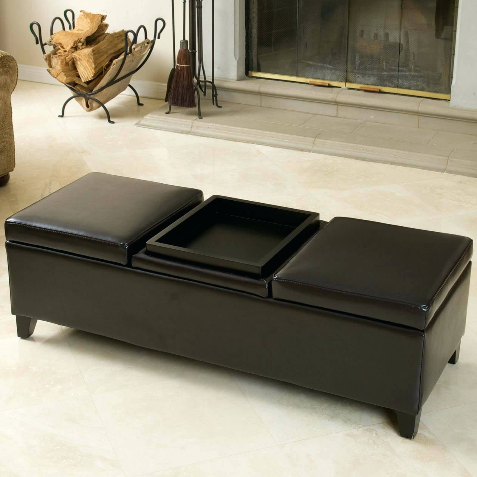 Coffee Table ~ Alfred Quick Ship Coffee Table Leather regarding Coffee Table Footrests (Image 12 of 30)