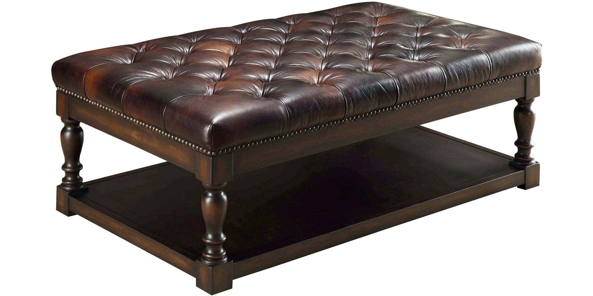 Coffee Table ~ Alfred Quick Ship Coffee Table Leather with regard to Coffee Table Footrests (Image 13 of 30)