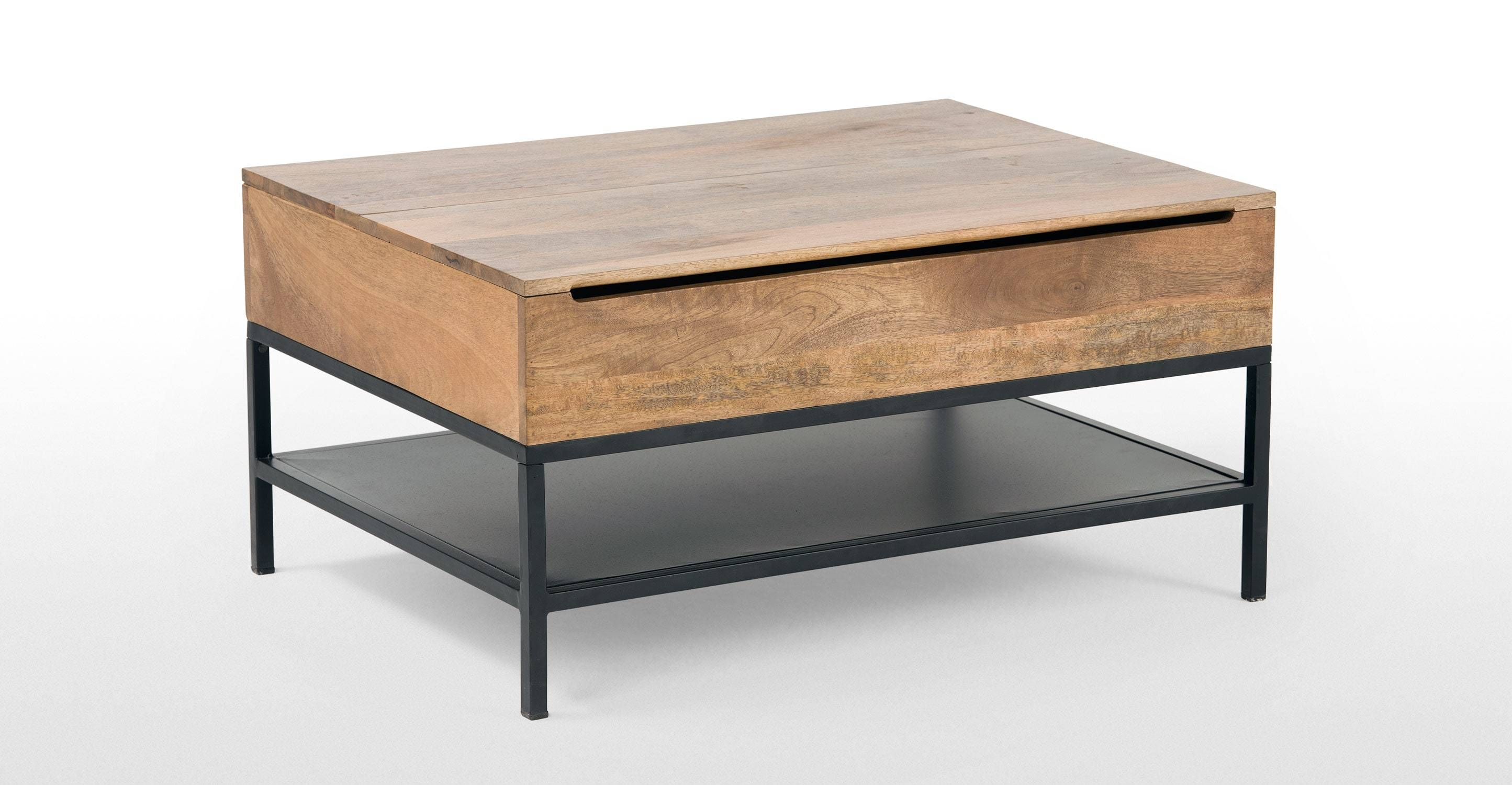 Coffee Table: Amazing Black Coffee Table With Storage Ideas Black Regarding Small Coffee Tables With Storage (View 9 of 30)