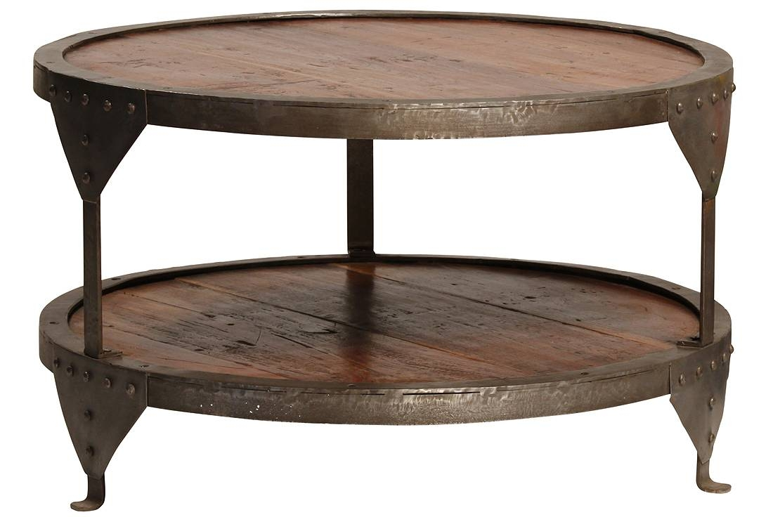 Coffee Table: Amazing Metal Round Coffee Table Design Ideas Rustic intended for Dark Wood Round Coffee Tables (Image 5 of 30)