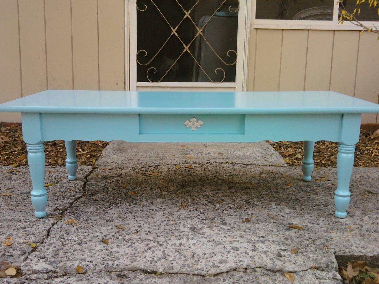 Coffee Table: Amusing Blue Coffee Table Design Idea Blue Console for Blue Coffee Tables (Image 12 of 30)