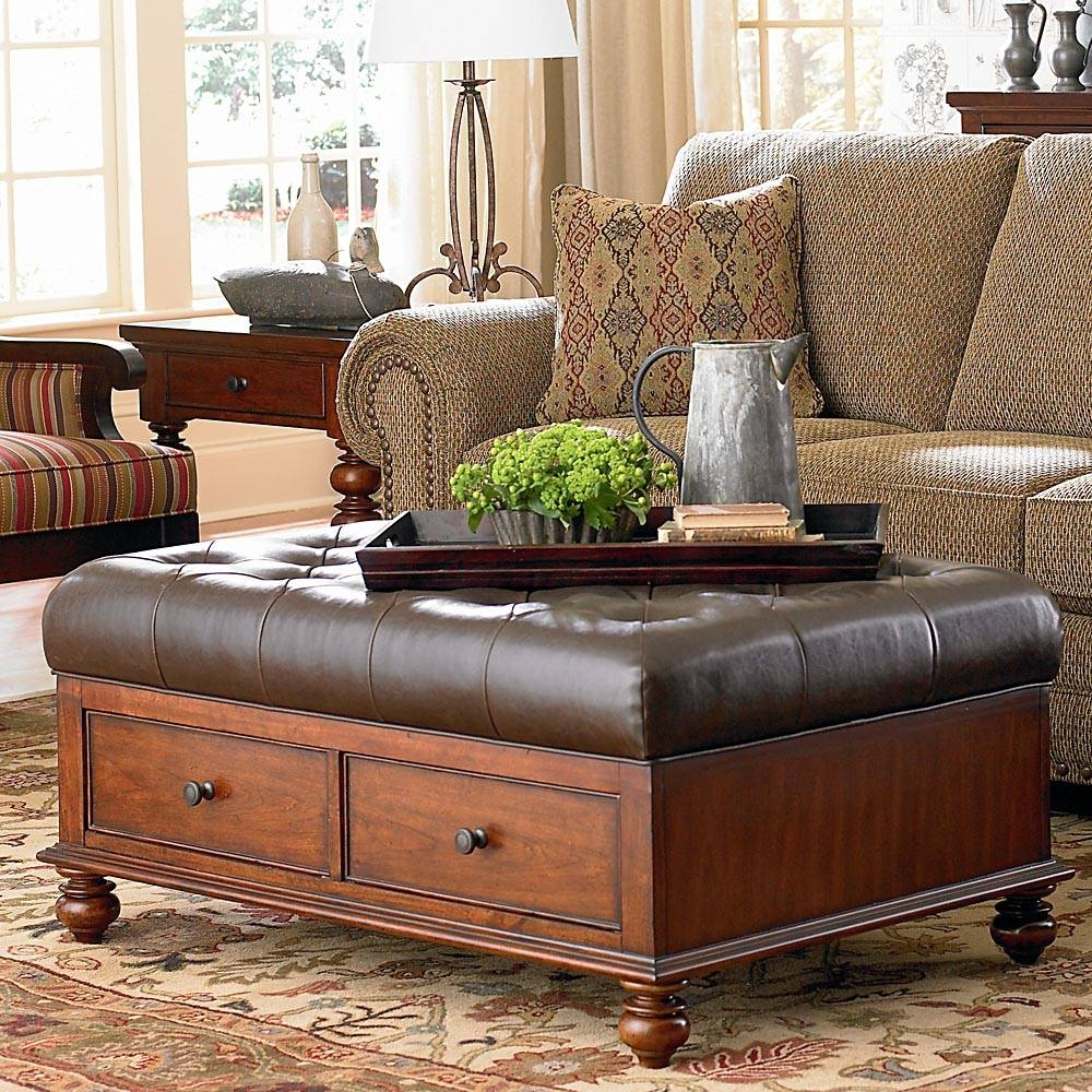 Coffee Table: Amusing Ottoman Leather Coffee Table Ottoman With For Coffee Tables With Seating And Storage (View 10 of 30)