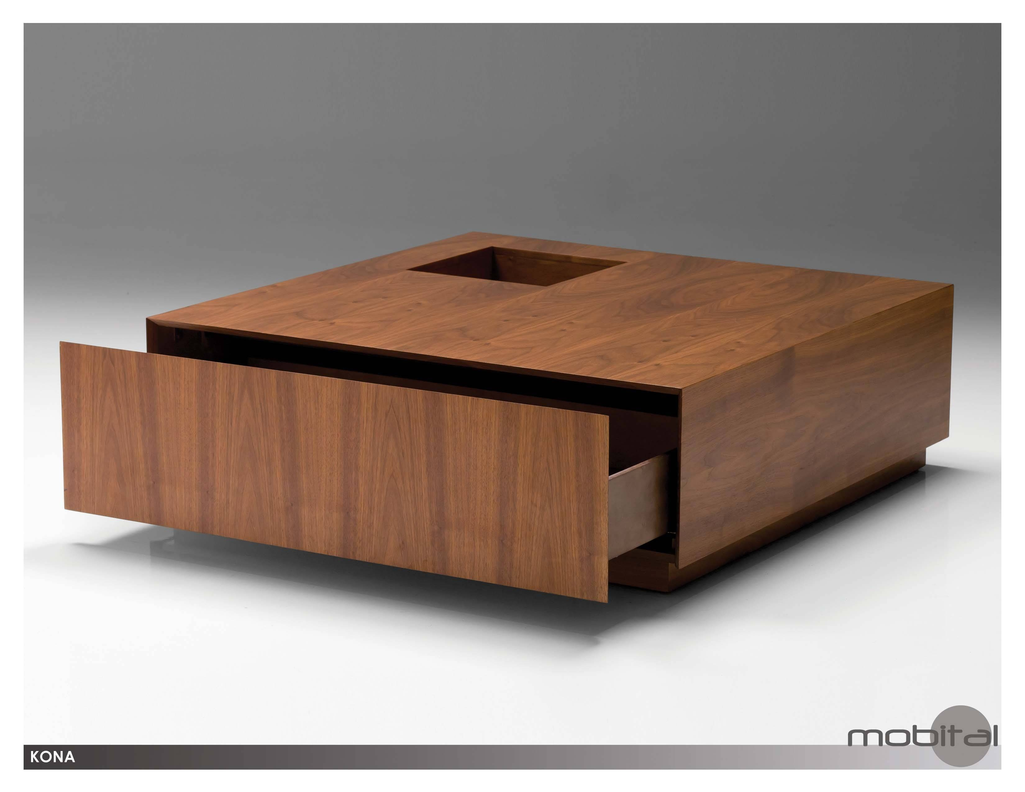 Coffee Table: Amusing Square Coffee Table With Storage Designs in Square Dark Wood Coffee Tables (Image 4 of 30)