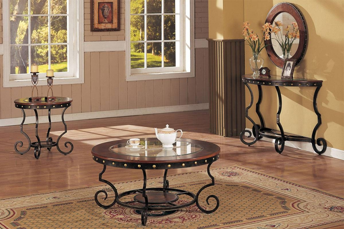 Coffee Table And Matching End And Consol Tables, Round pertaining to Coffee Table With Matching End Tables (Image 7 of 30)