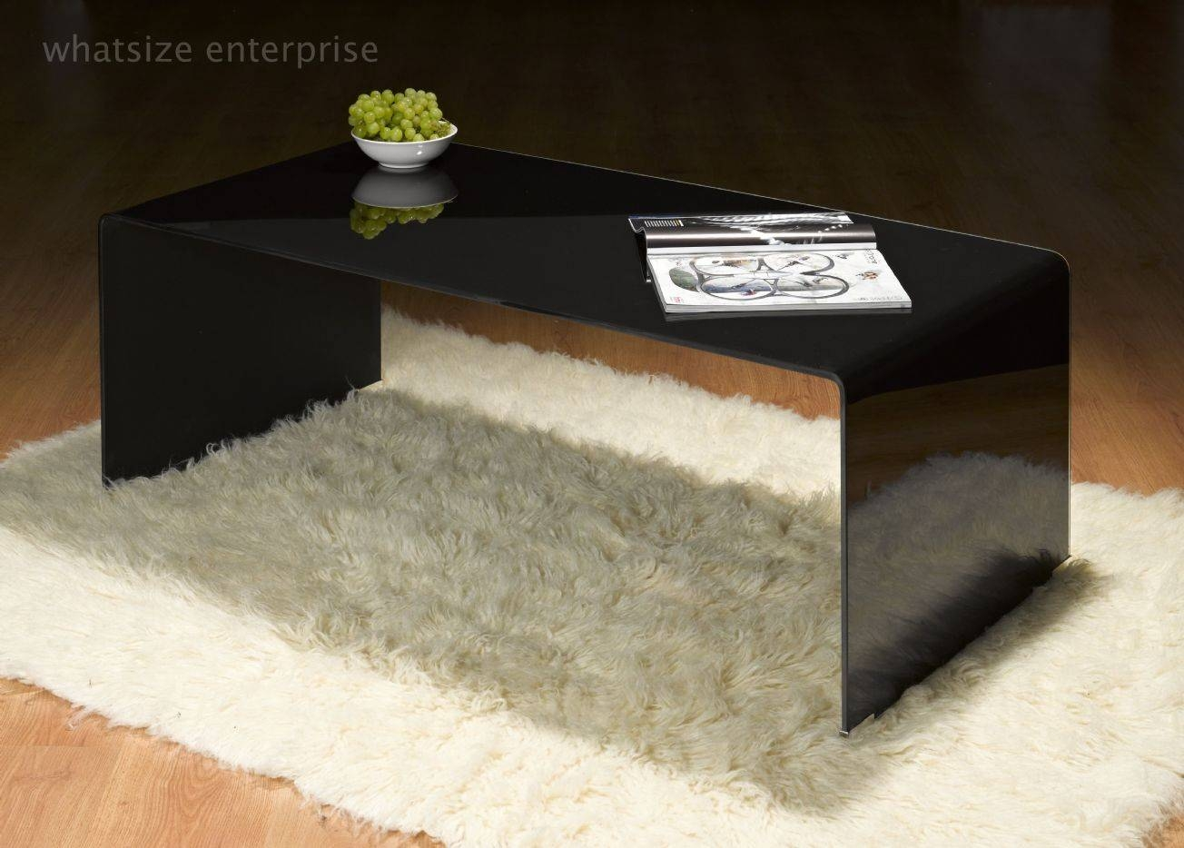 Coffee Table: Appealing Bent Glass Coffee Table Ideas Curved Glass regarding Dark Glass Coffee Tables (Image 16 of 30)