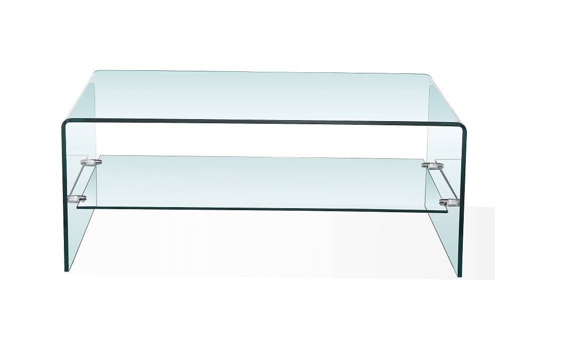 Coffee Table: Appealing Bent Glass Coffee Table Ideas Curved pertaining to Glass Coffee Tables With Shelf (Image 4 of 30)