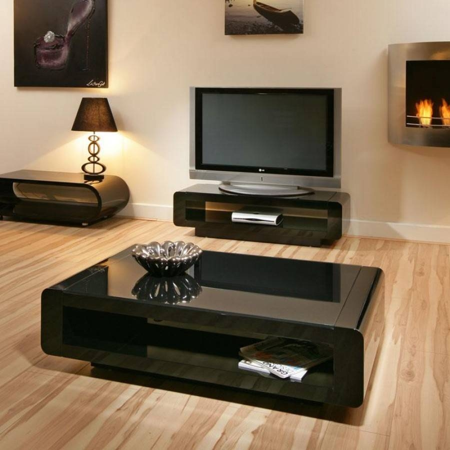 Coffee Table: Appealing Black Glass Coffee Table Designs Black with Black Glass Coffee Tables (Image 12 of 30)