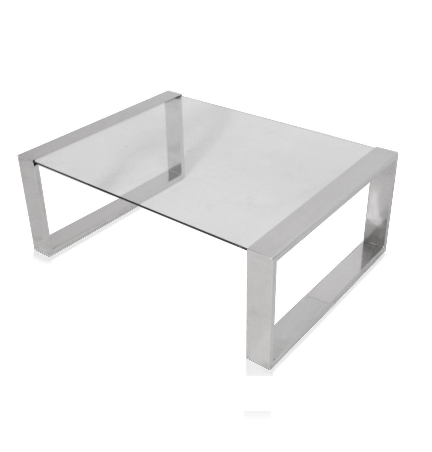 Coffee Table: Astonishing Chrome And Glass Coffee Table Ikea Inside Coffee Tables Glass And Metal (View 4 of 30)