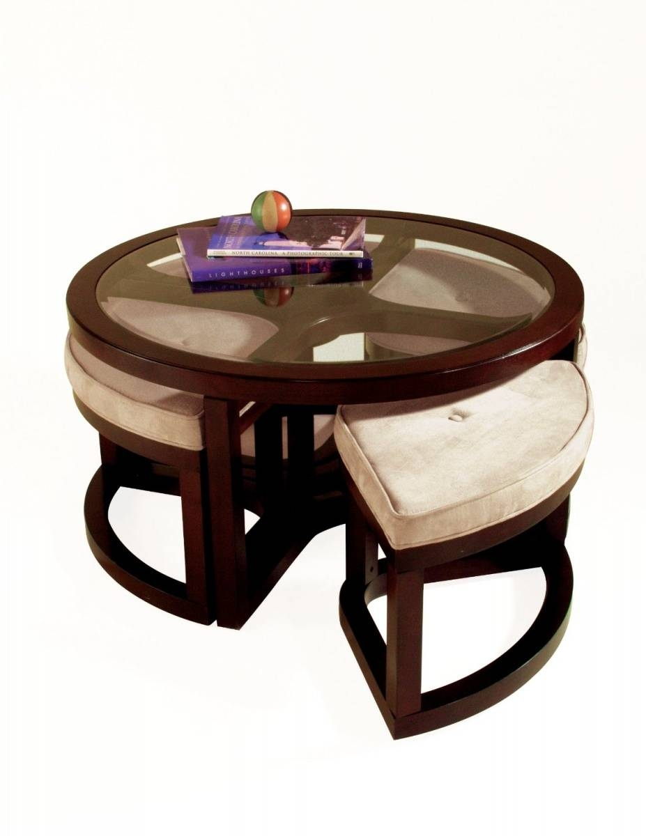 Coffee Table: Astonishing Small Round Ottoman Coffee Table Coffee Intended For Small Round Coffee Tables (View 5 of 30)