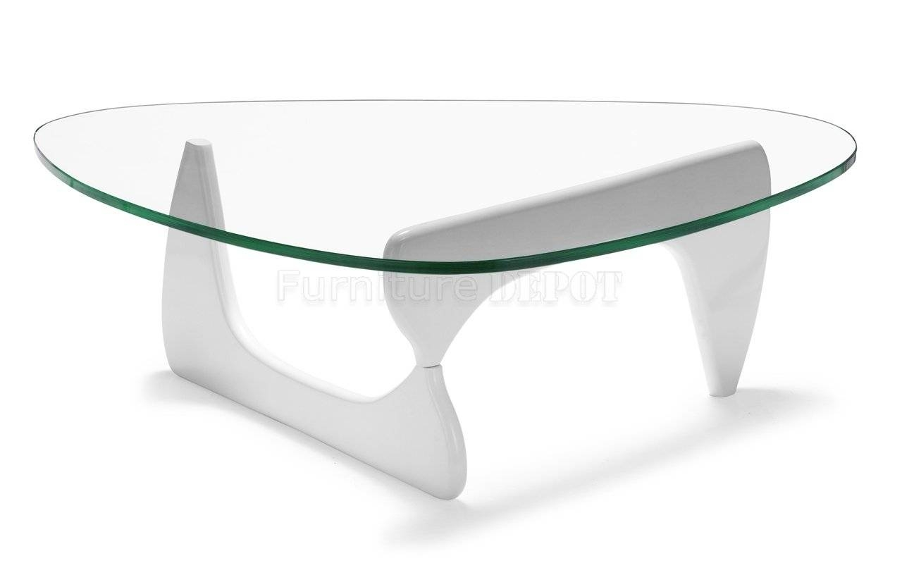 Coffee Table: Attractive White Modern Coffee Table Design Ideas inside White Oval Coffee Tables (Image 3 of 30)