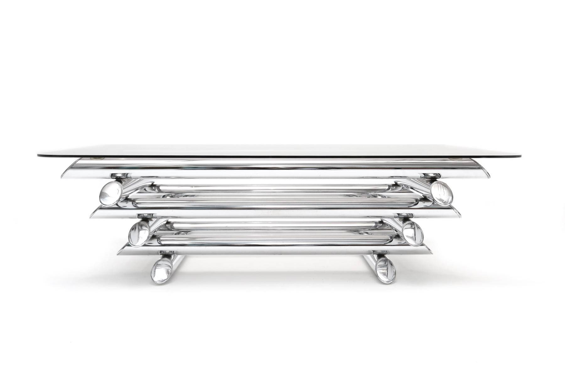 Coffee Table: Awesome Chrome Coffee Table Designs Chrome And throughout Rectangle Glass Chrome Coffee Tables (Image 11 of 30)