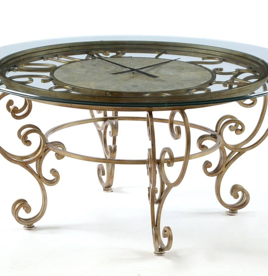 Coffee Table: Awesome Clock Coffee Table Designs Round Clock pertaining to Coffee Tables With Clock Top (Image 15 of 30)