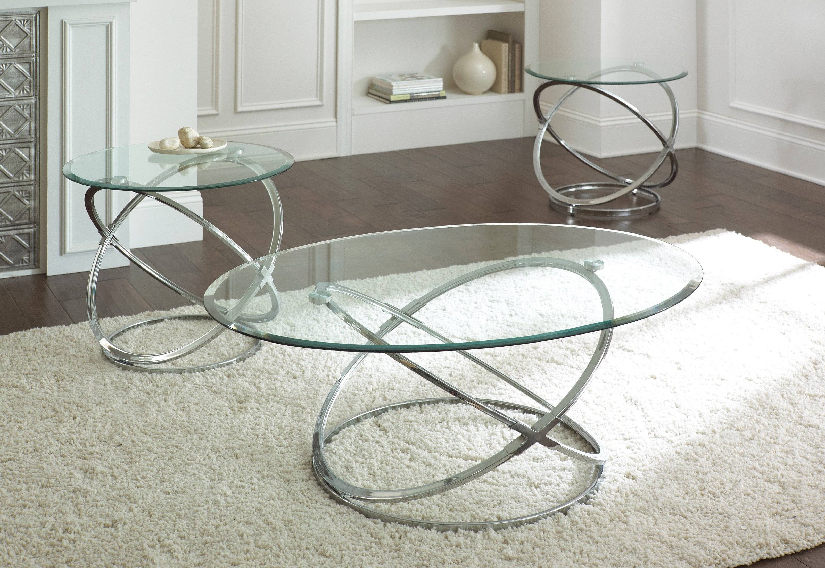 Coffee Table. Awesome Glass And Chrome Coffee Table Designs for Rectangle Glass Chrome Coffee Tables (Image 7 of 30)